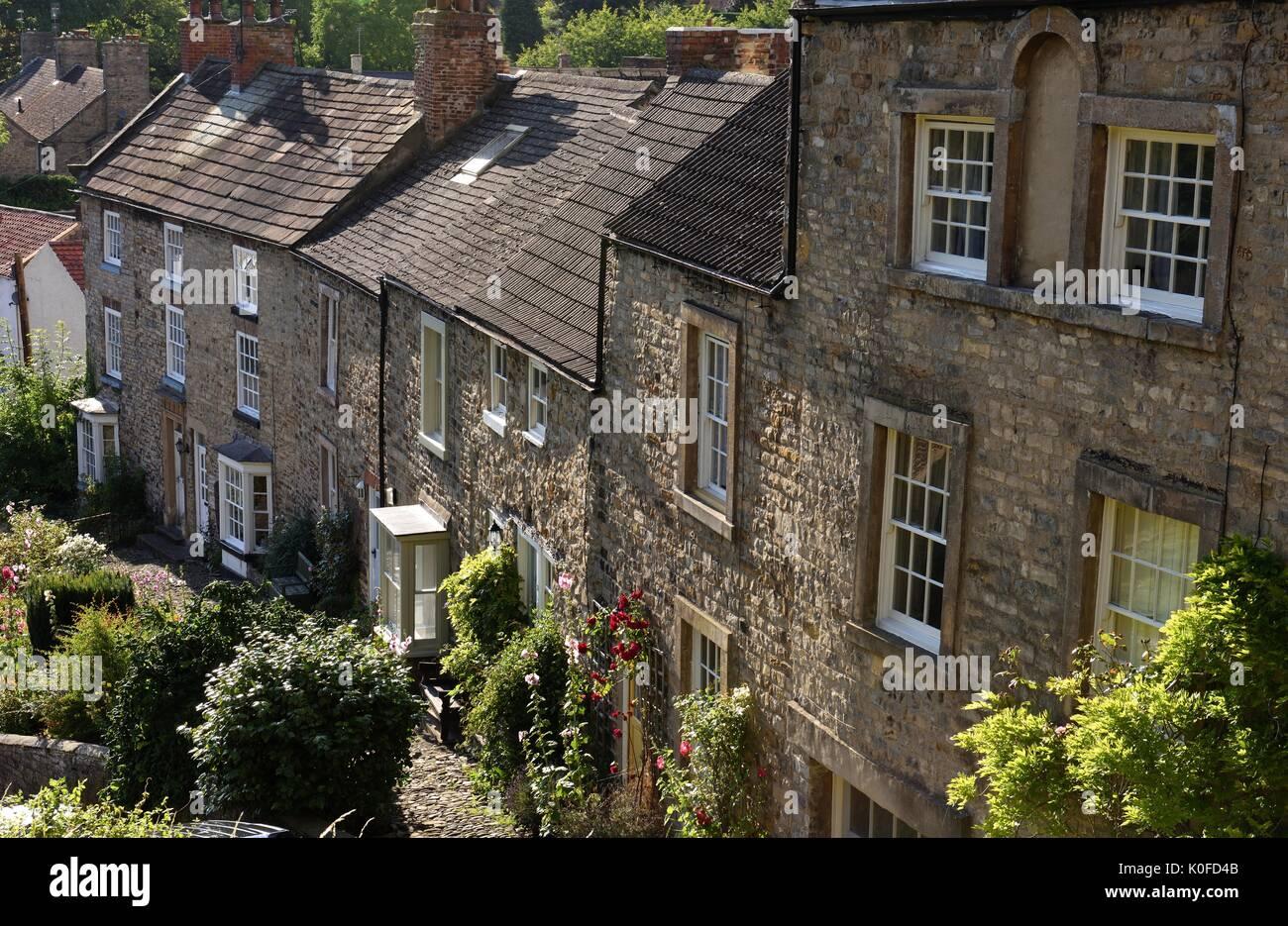 Georgian houses in Richmond Yorkshire - Stock Image
