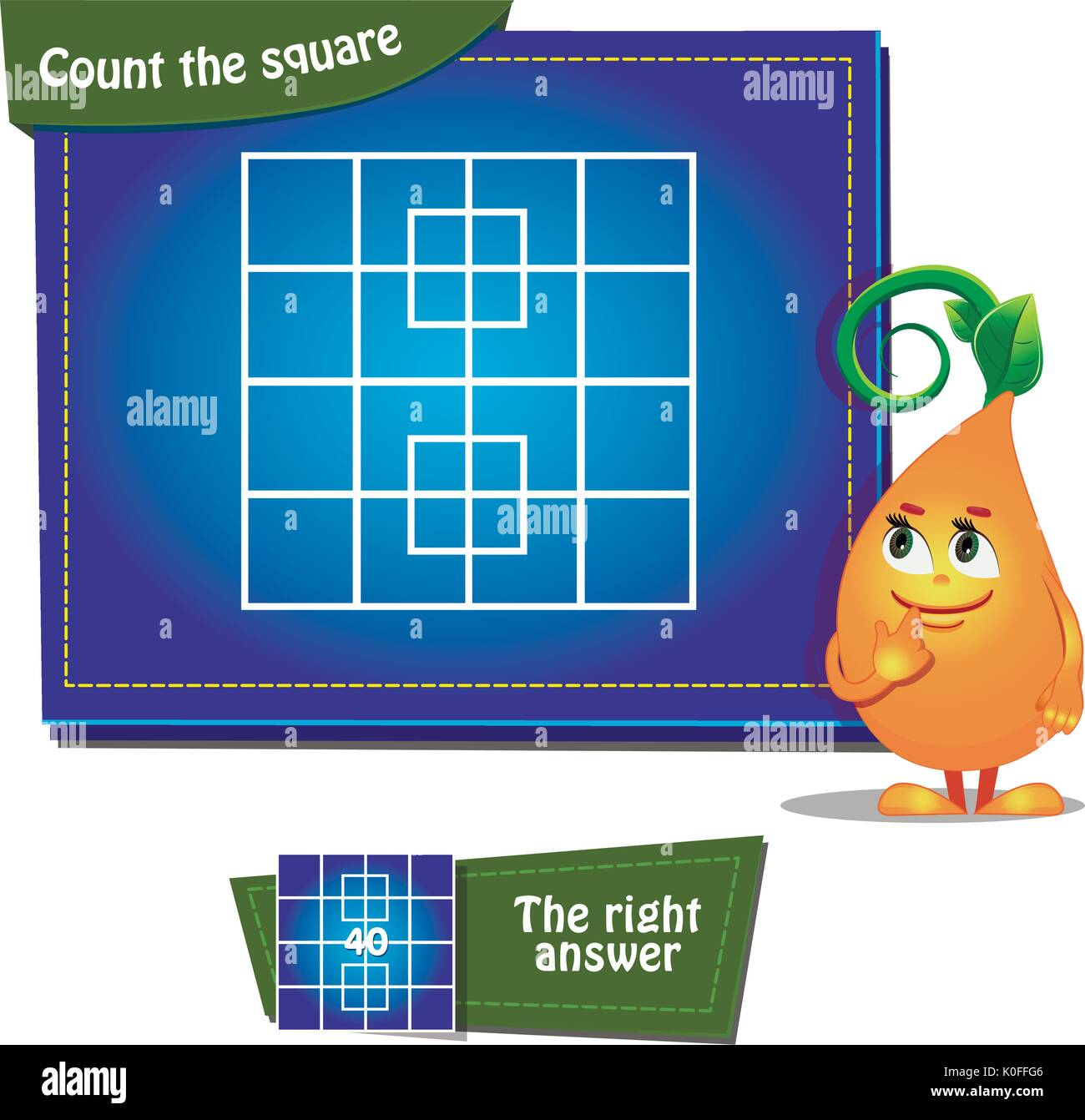 Kids Math Geometry Stock Vector Images - Alamy