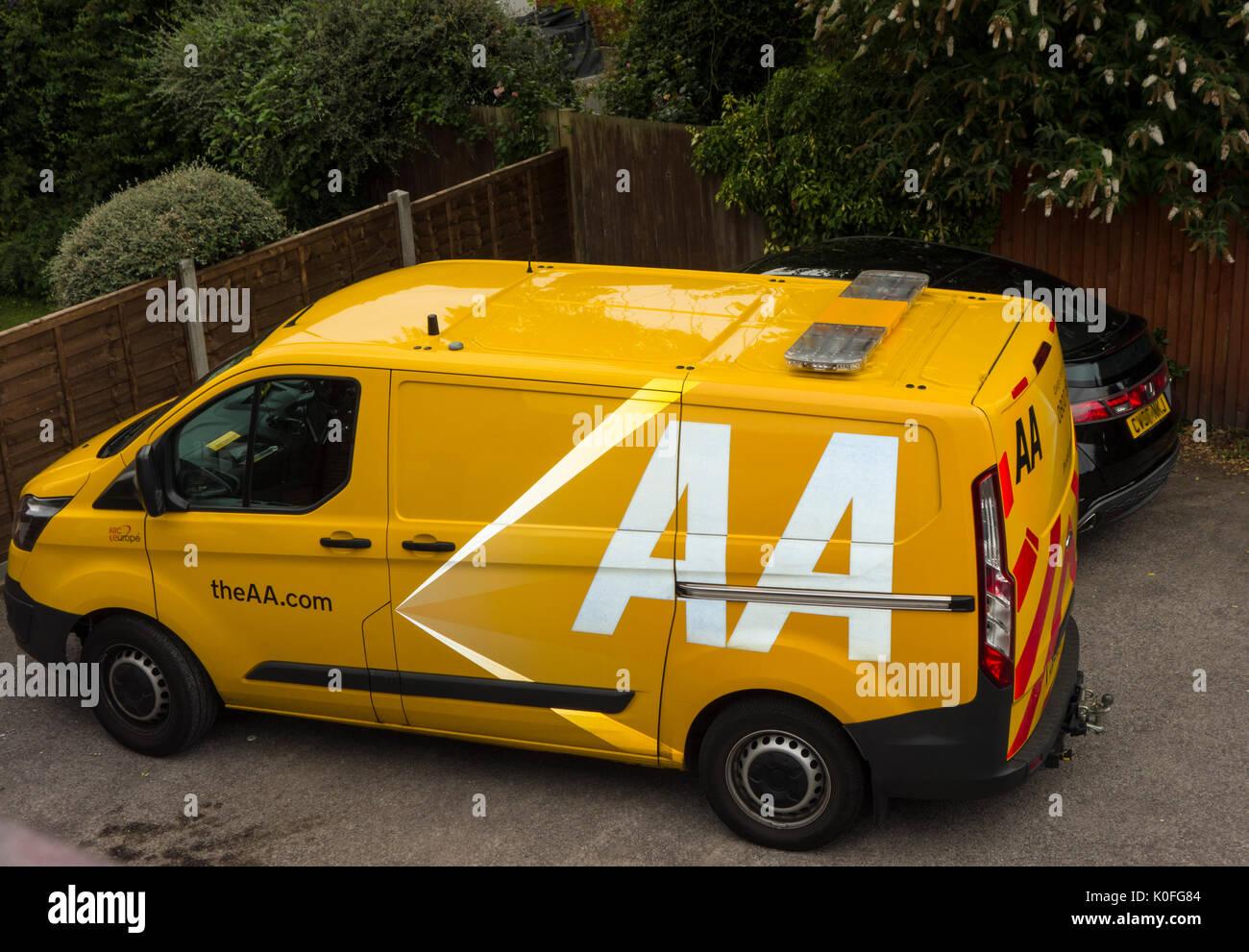 AA breakdown service van - Stock Image