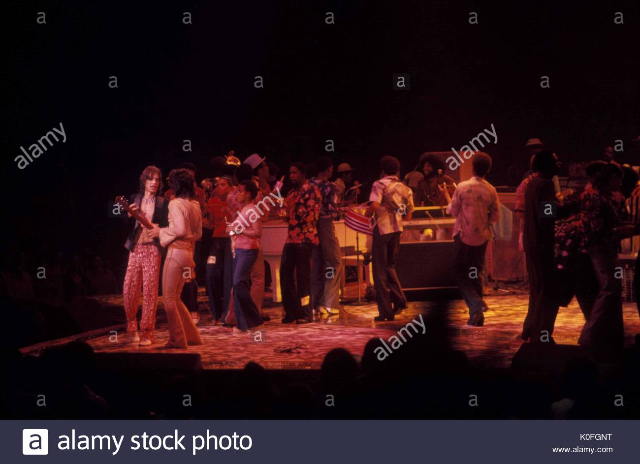 English rock band the rolling stones performing at madison square english rock band the rolling stones performing at madison square garden on june 22 1975 in new york city workwithnaturefo