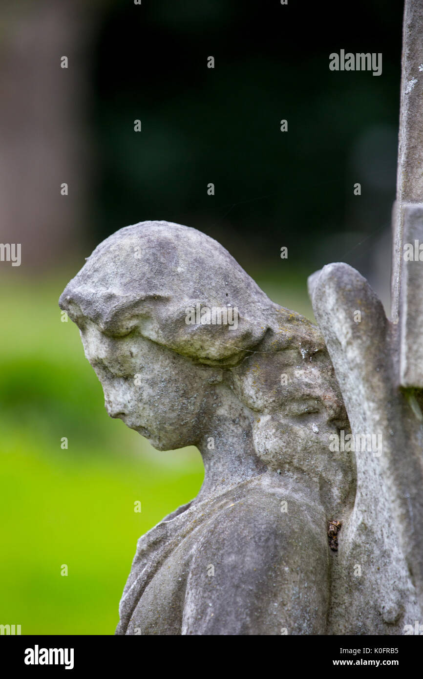 Grave stone in cemetery Elworth Cheshire UK - Stock Image