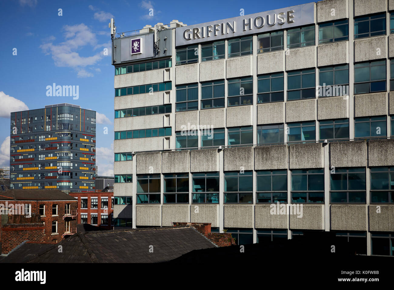 Manchester Northern Quarter , Griffin House home of the catalogue giants JD Williams  on Lever Street. - Stock Image