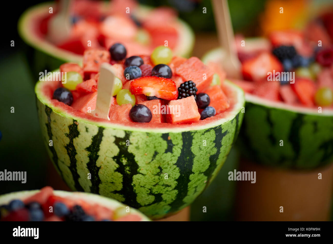 The Lowery Outlet at Salford Quays 'Makers Market' Watermelon fruit bowl - Stock Image