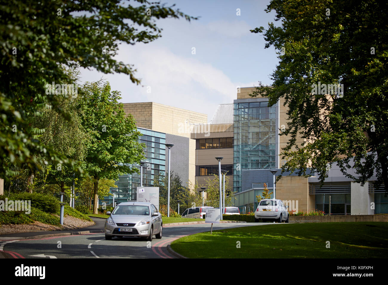Alderley Park in Nether Alderley, Cheshire, formerly an AstraZeneca facility and now owned by Bruntwood. - Stock Image