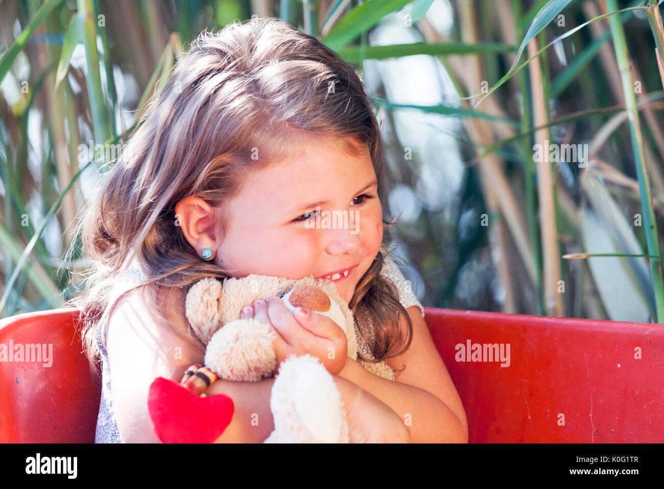 Cute Little Girl Wet Hair Stock Photos Cute Little Girl Wet Hair