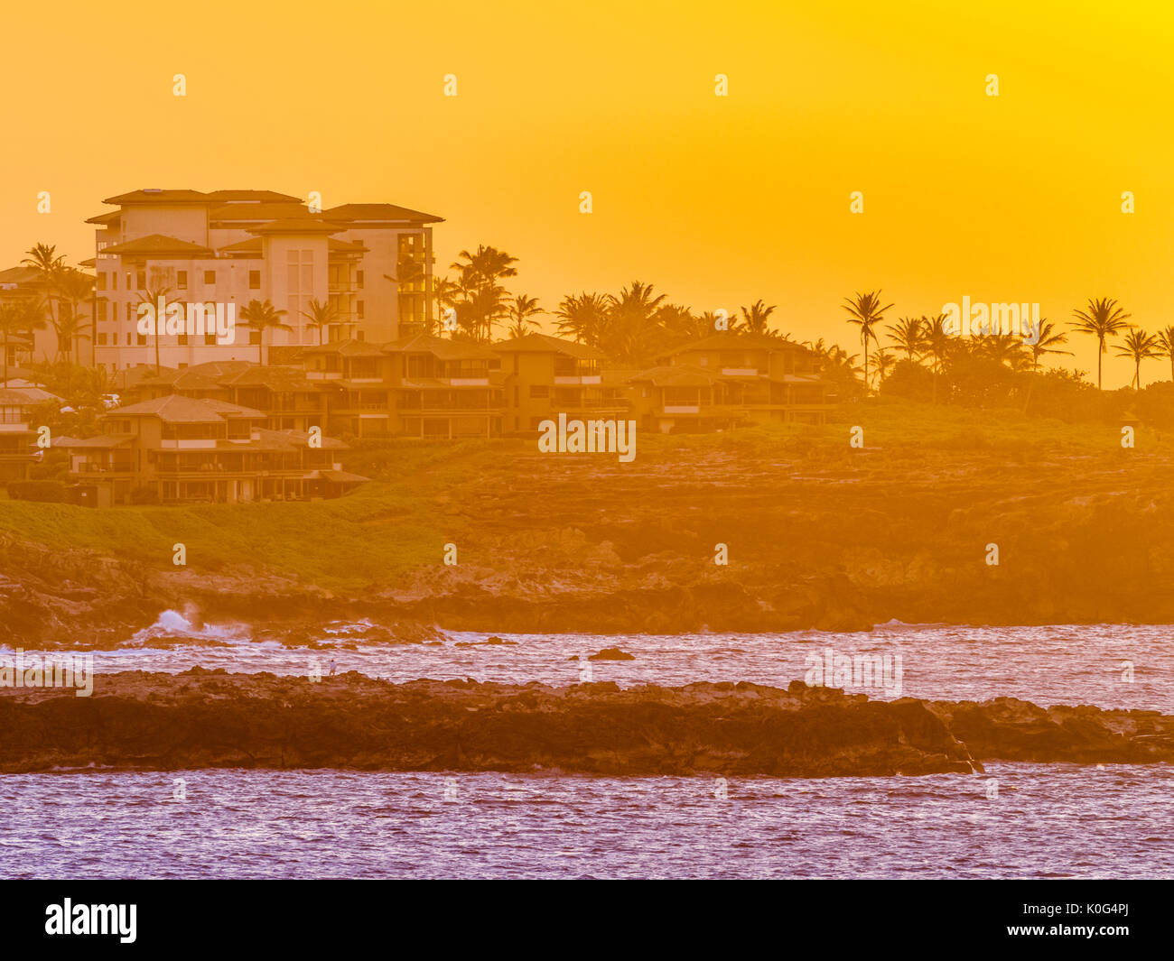 Resort on Maui Hawaii Stock Photo