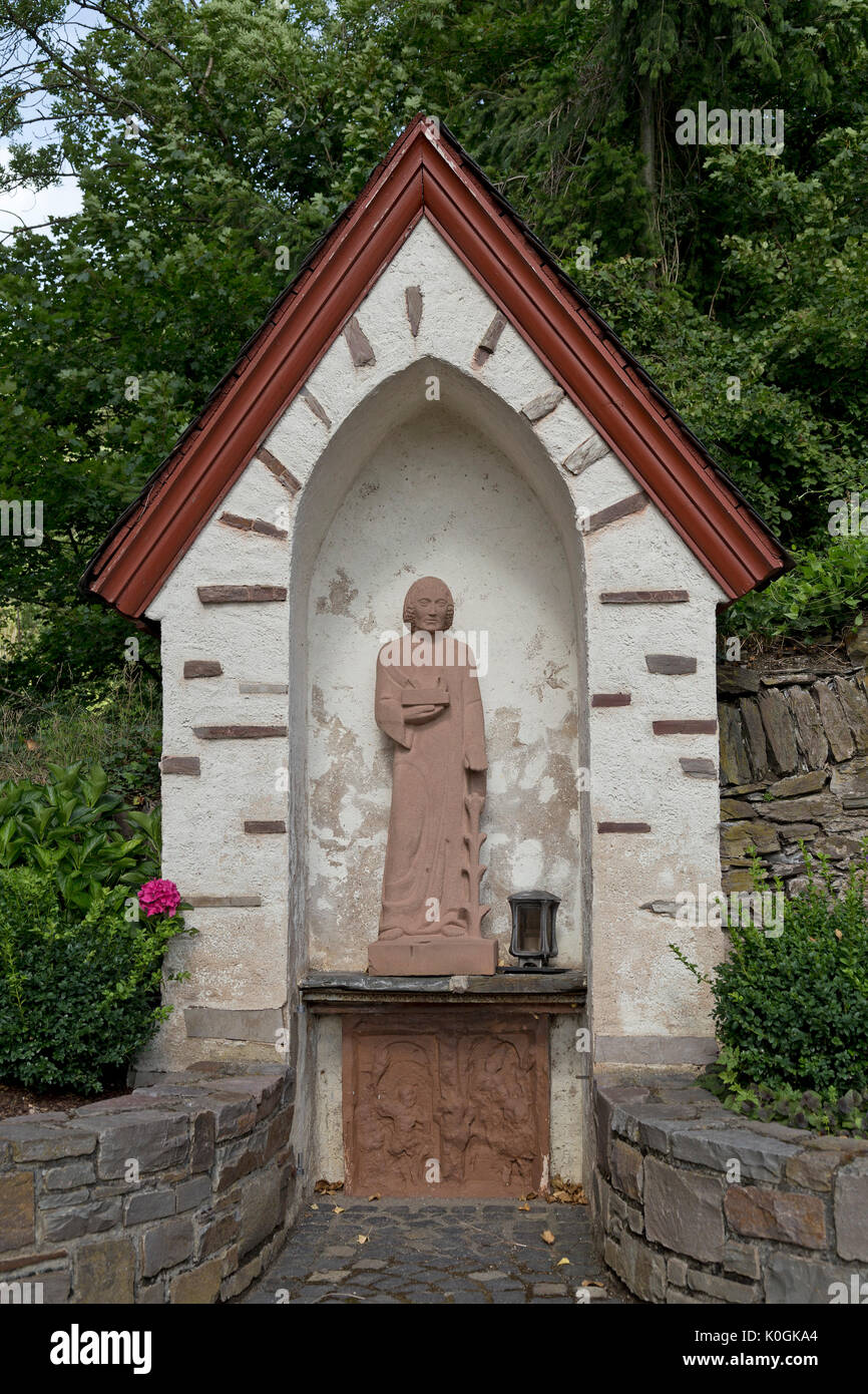 shelter for a statue, Zell, Moselle, Rhineland-Palatinate, Germany - Stock Image