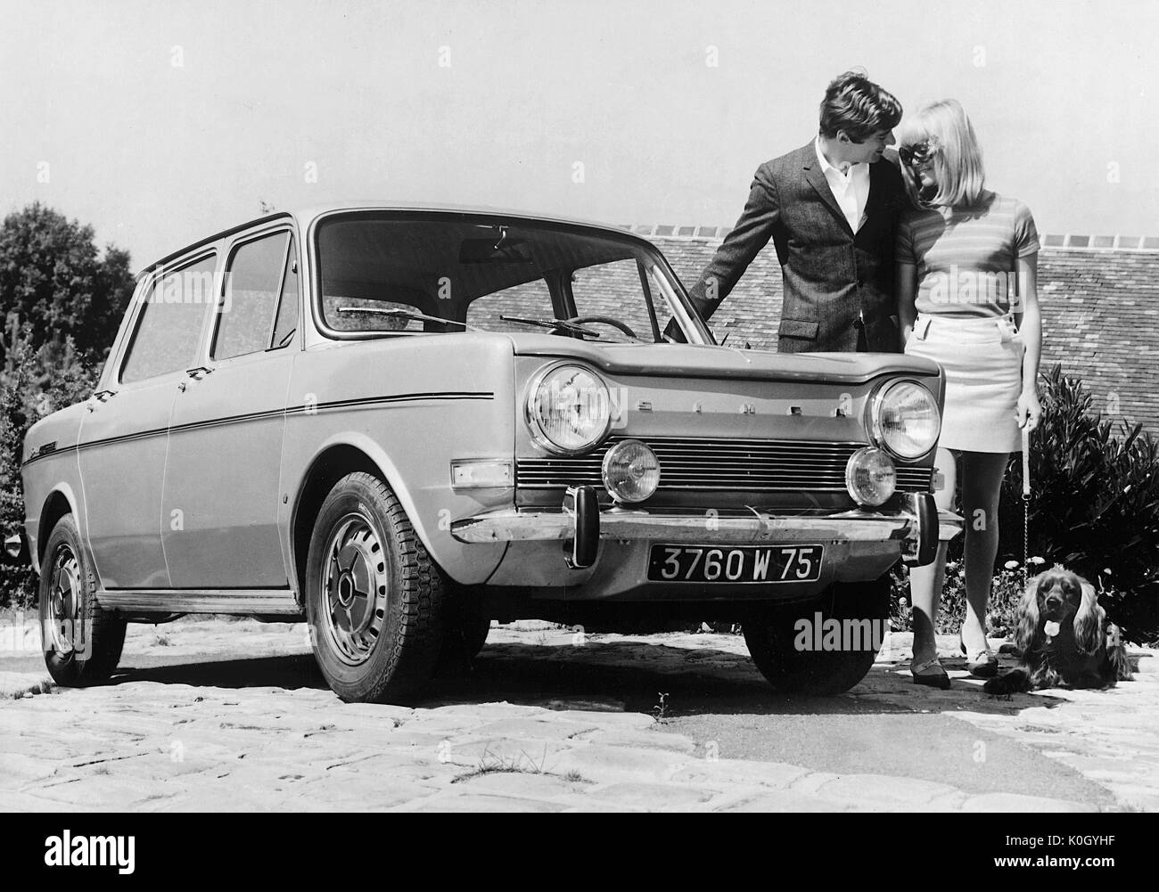 Car Models Black And White Stock Photos Images Alamy 1951 Simca Wiring Diagram 1968 1000 Special Image