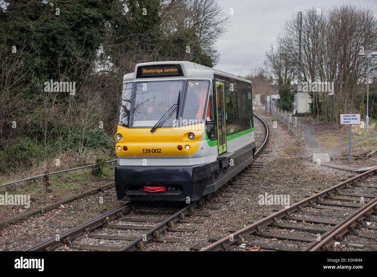 Parry people mover  139002 arrives at Stourbridge Junction with the 1030 Stourbridge Town - Stourbridge Jn - Stock Image
