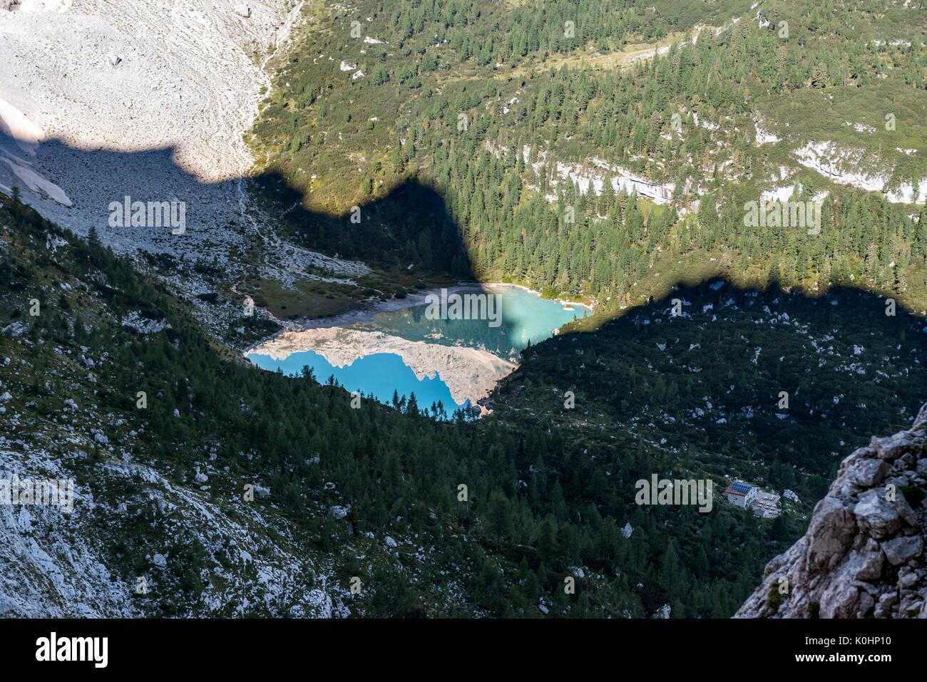 Sorapiss, Dolomites, Veneto, Italy. The Sorapiss Lake Stock Photo