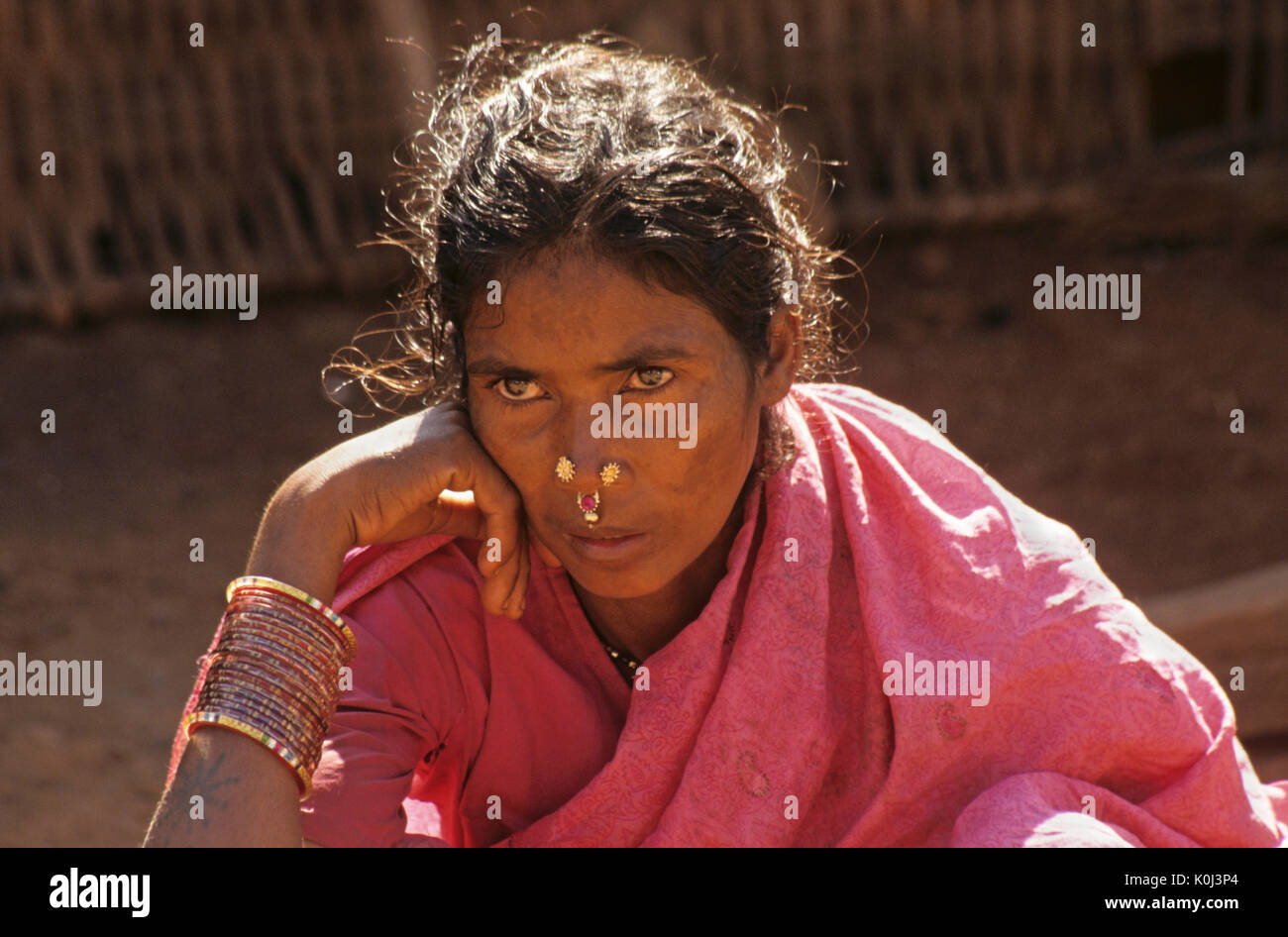 Saora tribal woman, Odisha (Orissa), India Stock Photo