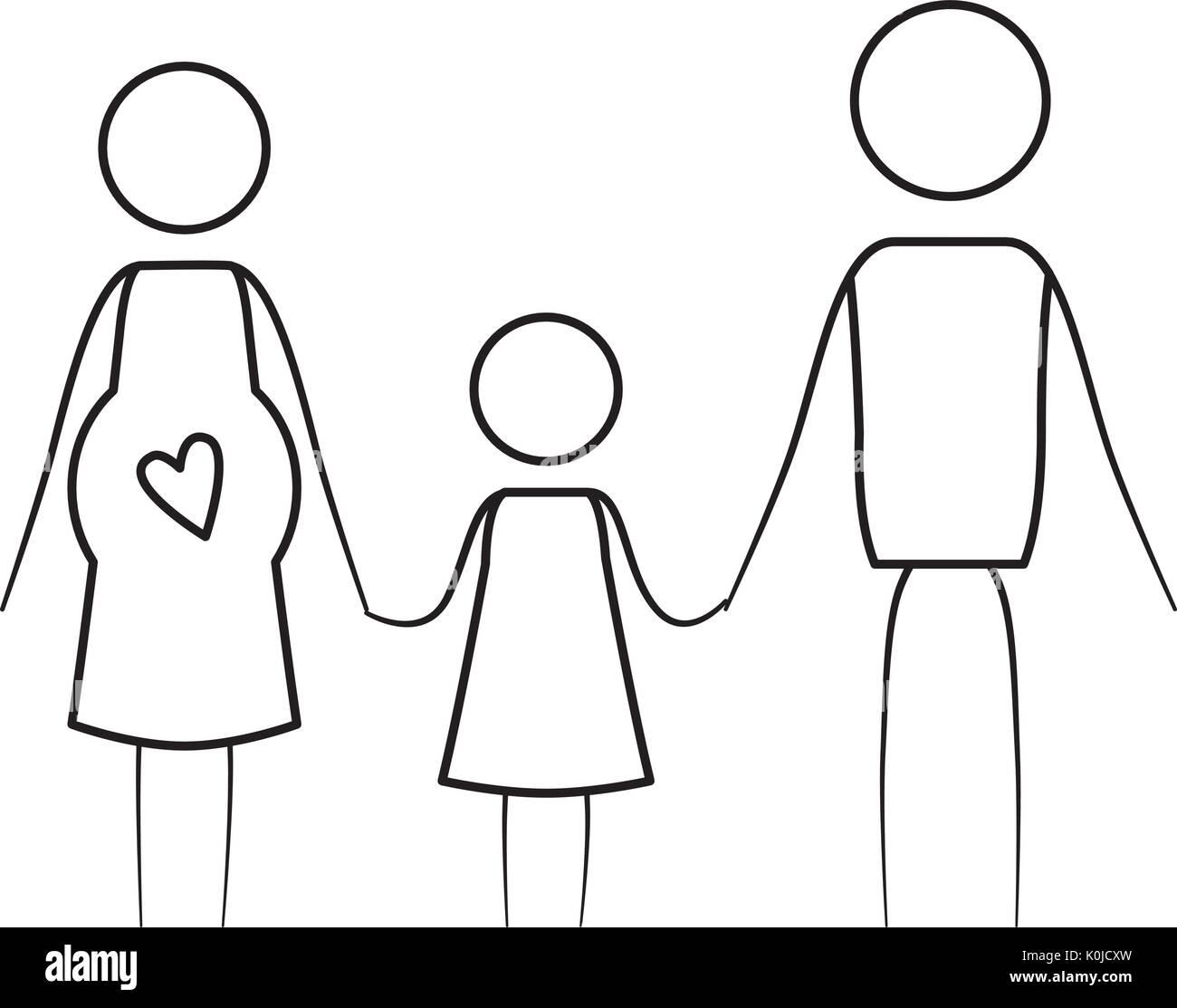 Baby hči hči obleko črno-belo Stock fotografije-4810