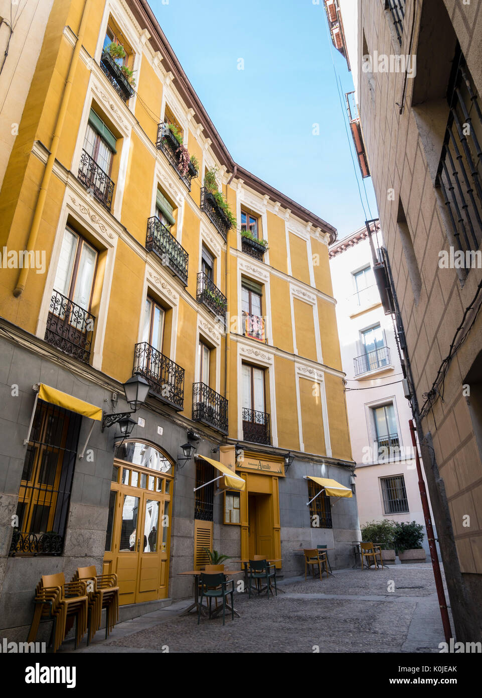 Arquitectura típica. Madrid capital. España Stock Photo