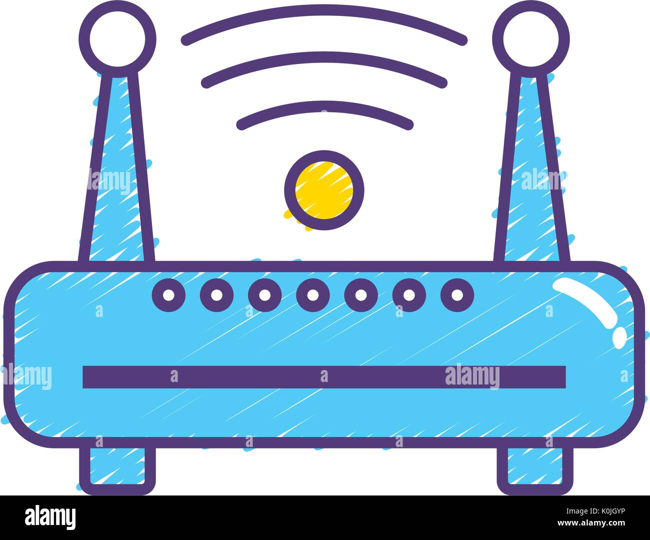 router wifi connection network technology - Stock Image