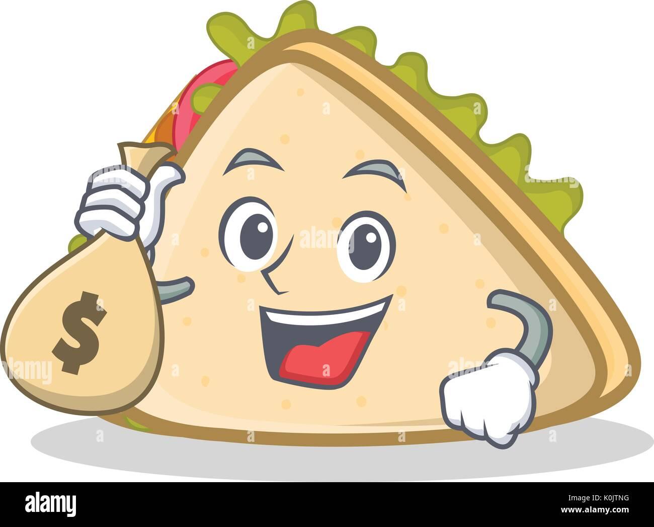 with money bag sandwich character cartoon style stock vector image art alamy https www alamy com with money bag sandwich character cartoon style image155307868 html