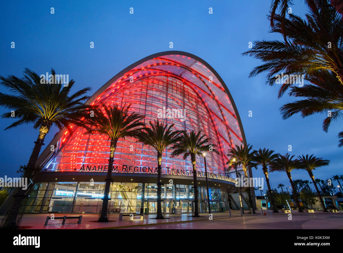 Anaheim, JUN 3: The beautiful Anaheim Regional Intermodal Transit Center on JUN 3, 2017 at Anaheim, California - Stock Image