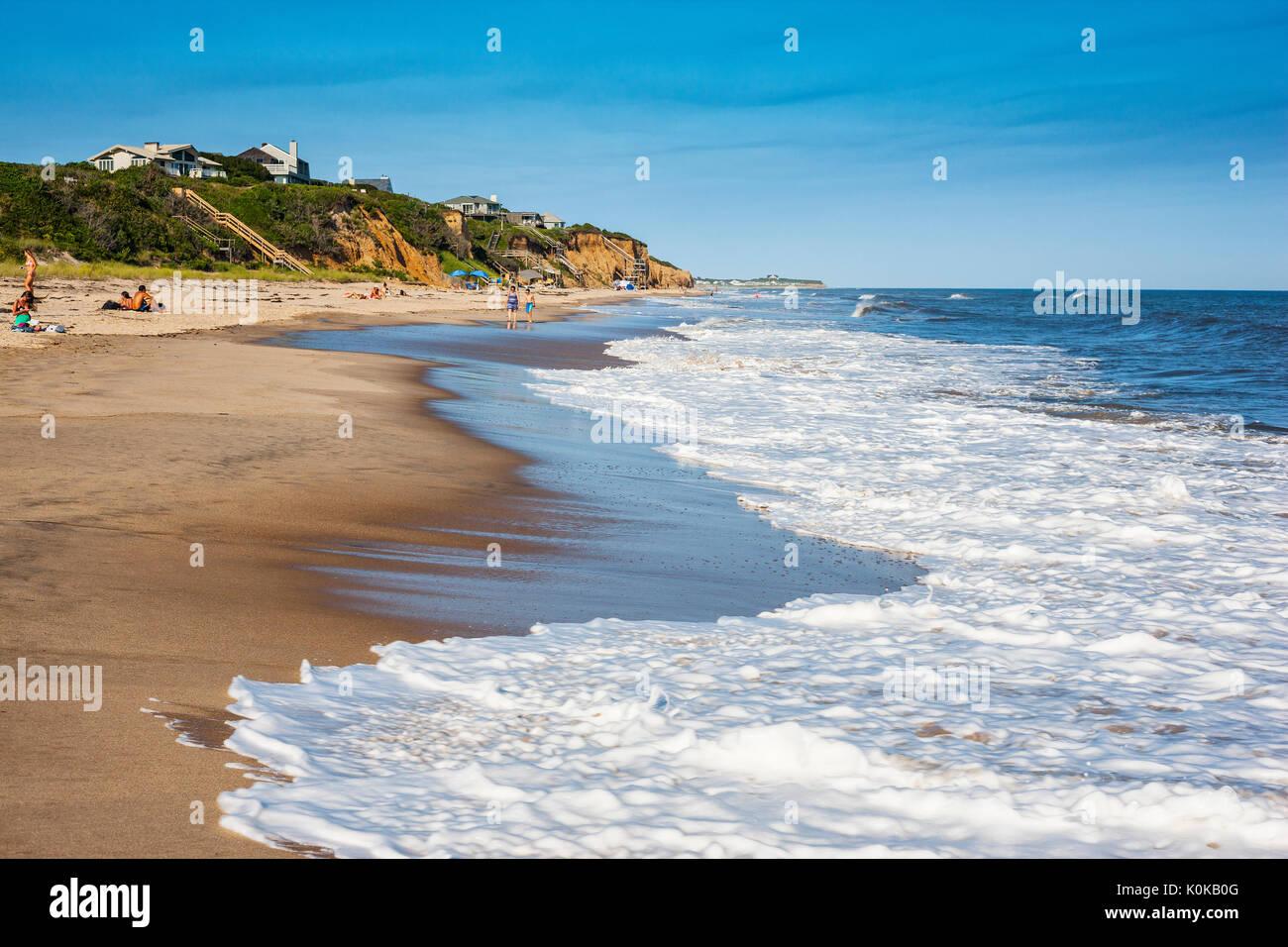 Montauk beach, Long Island - Stock Image