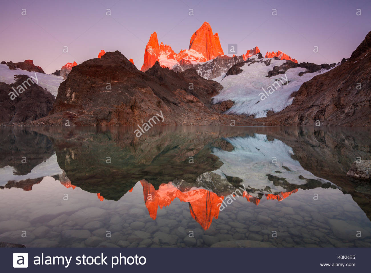 Autumn in Patagonia. Fitz Roy, Argentina - Stock Image