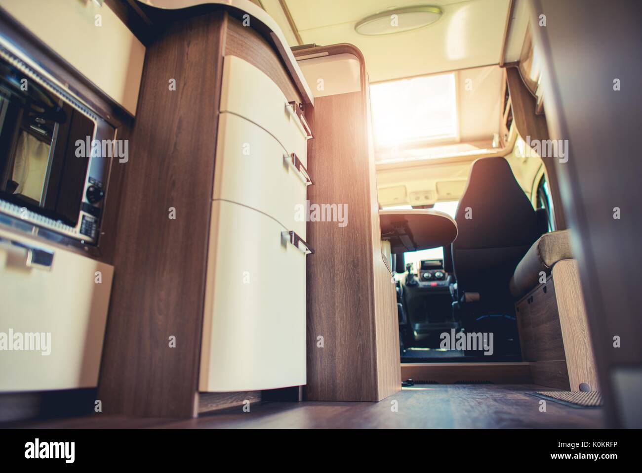 Modern Motorhome Interior Elegant Materials And Finishing Motorcoaching Theme
