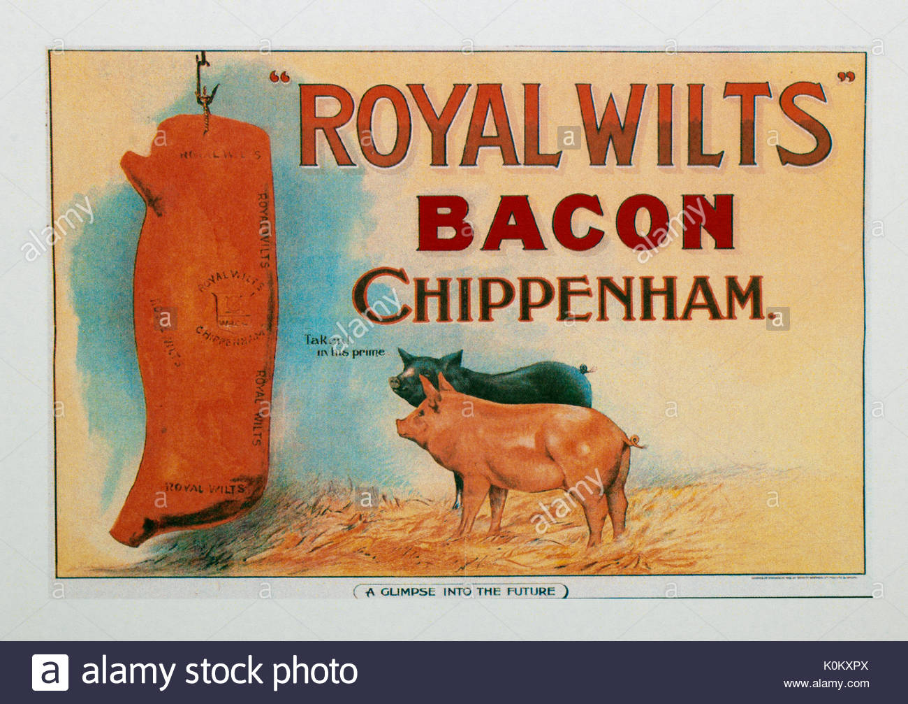 Vintage Food Advertisement Poster Advertising Royal Wilts Bacon Stock Photo Alamy