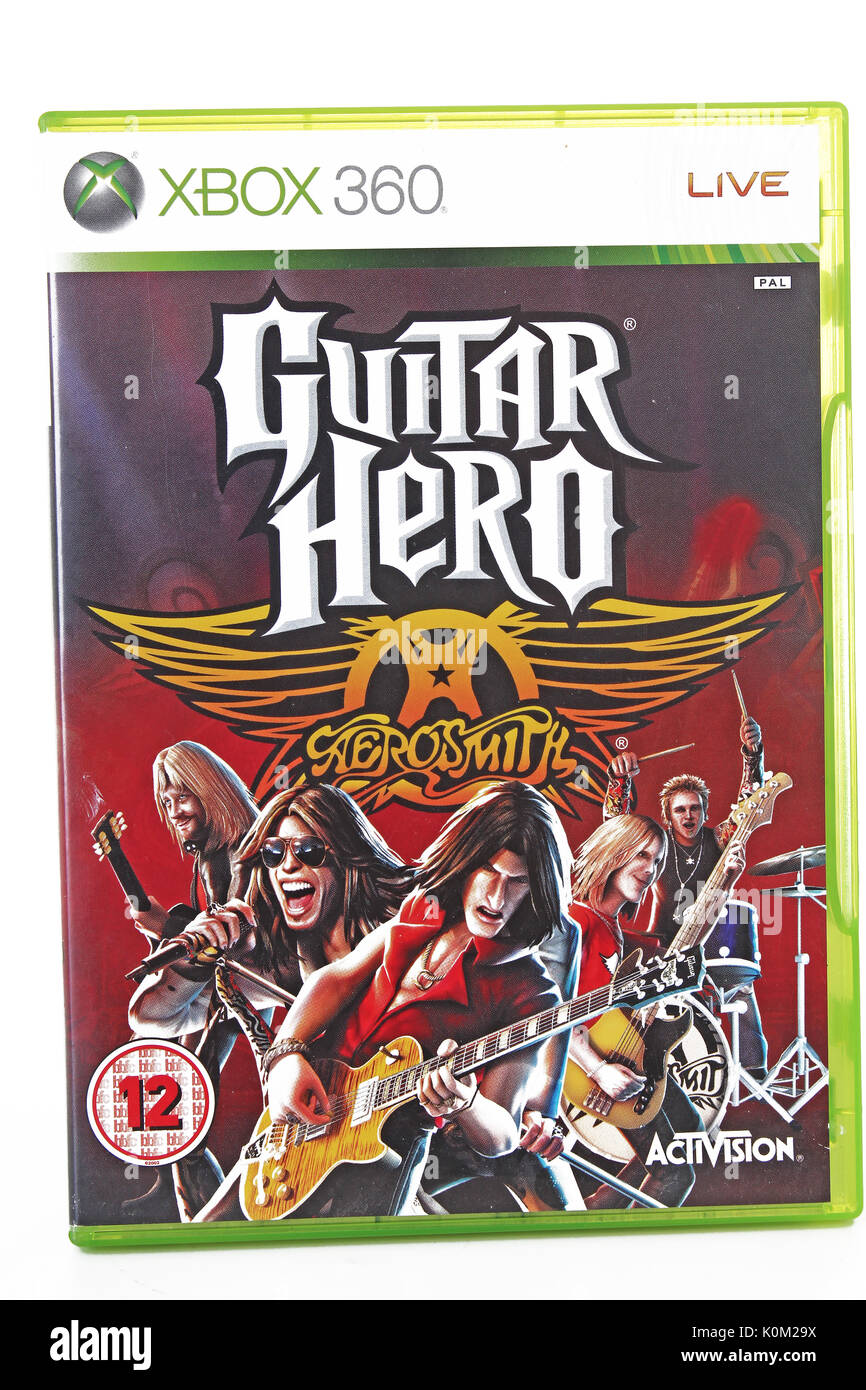 Xbox 360 game. Guitar Hero. - Stock Image