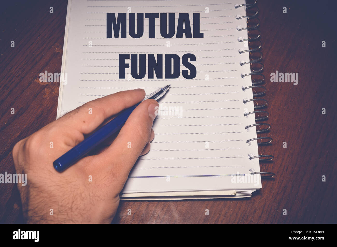 mutual funds business background - Stock Image