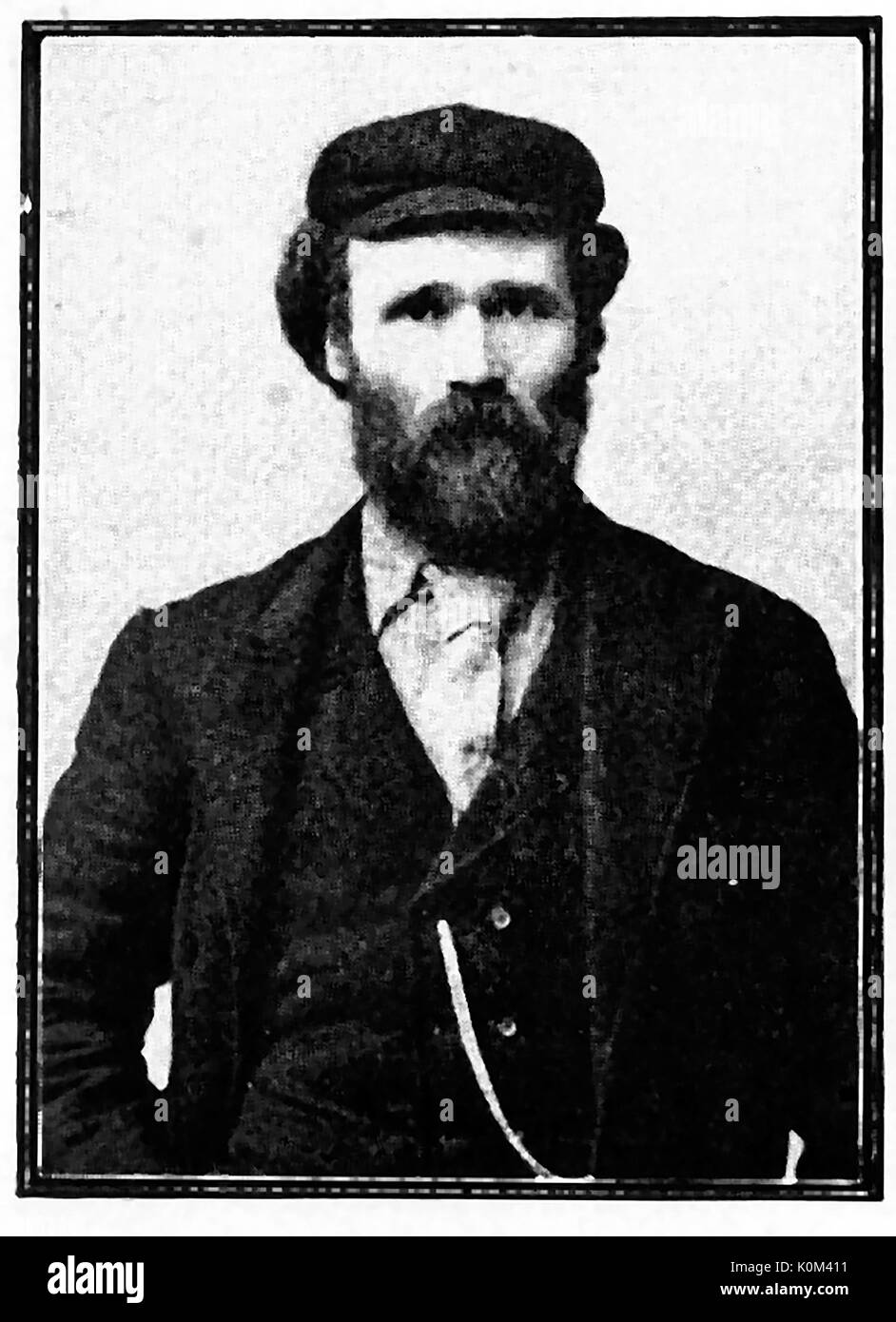 James Keir Hardy as a young man at the Bradford (UK) Trades Union Congress - Stock Image