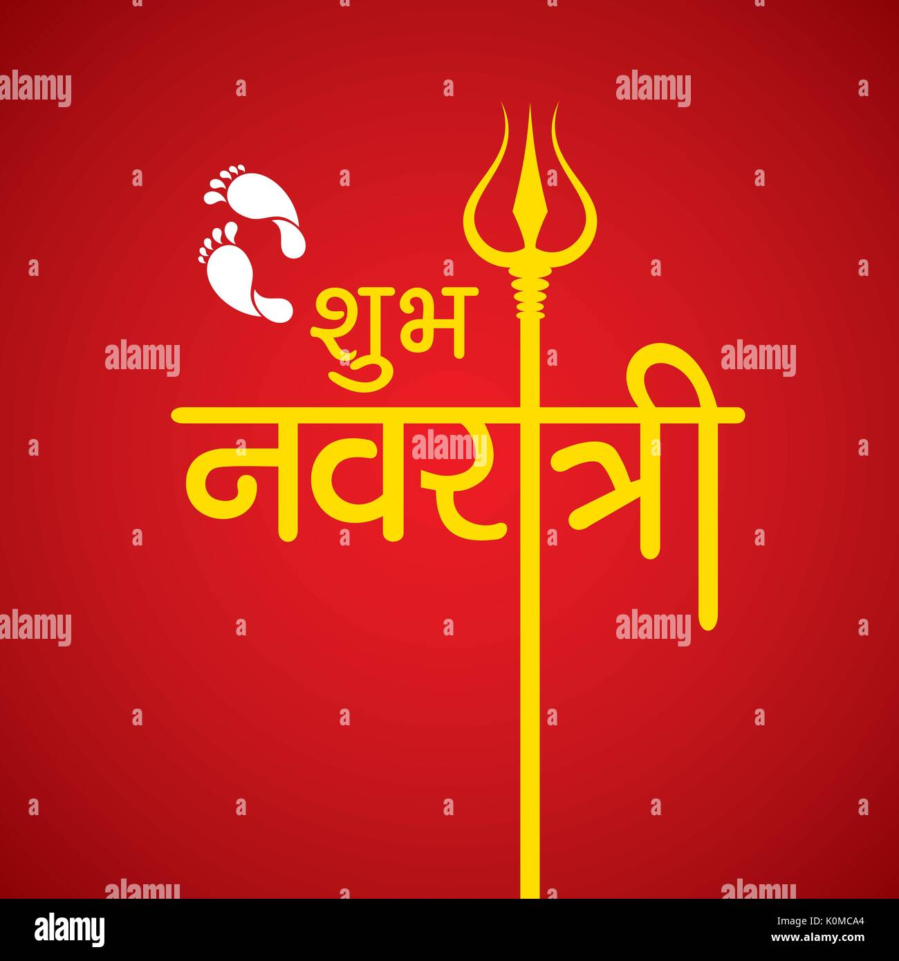 Durga devi stock photos durga devi stock images alamy illustration of navratri utsav greeting card stock image kristyandbryce Choice Image