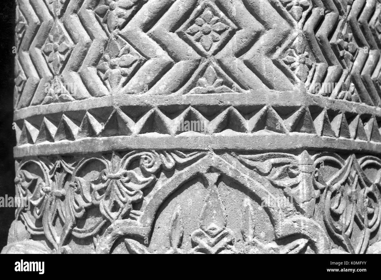 old vintage photo of wall, fatehpur sikri, Agra, uttar Pradesh, India, Asia 1900s - Stock Image