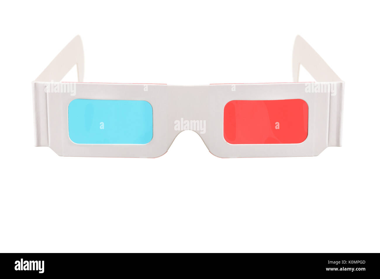 Pair of 3-D glasses isolated on white background - Stock Image