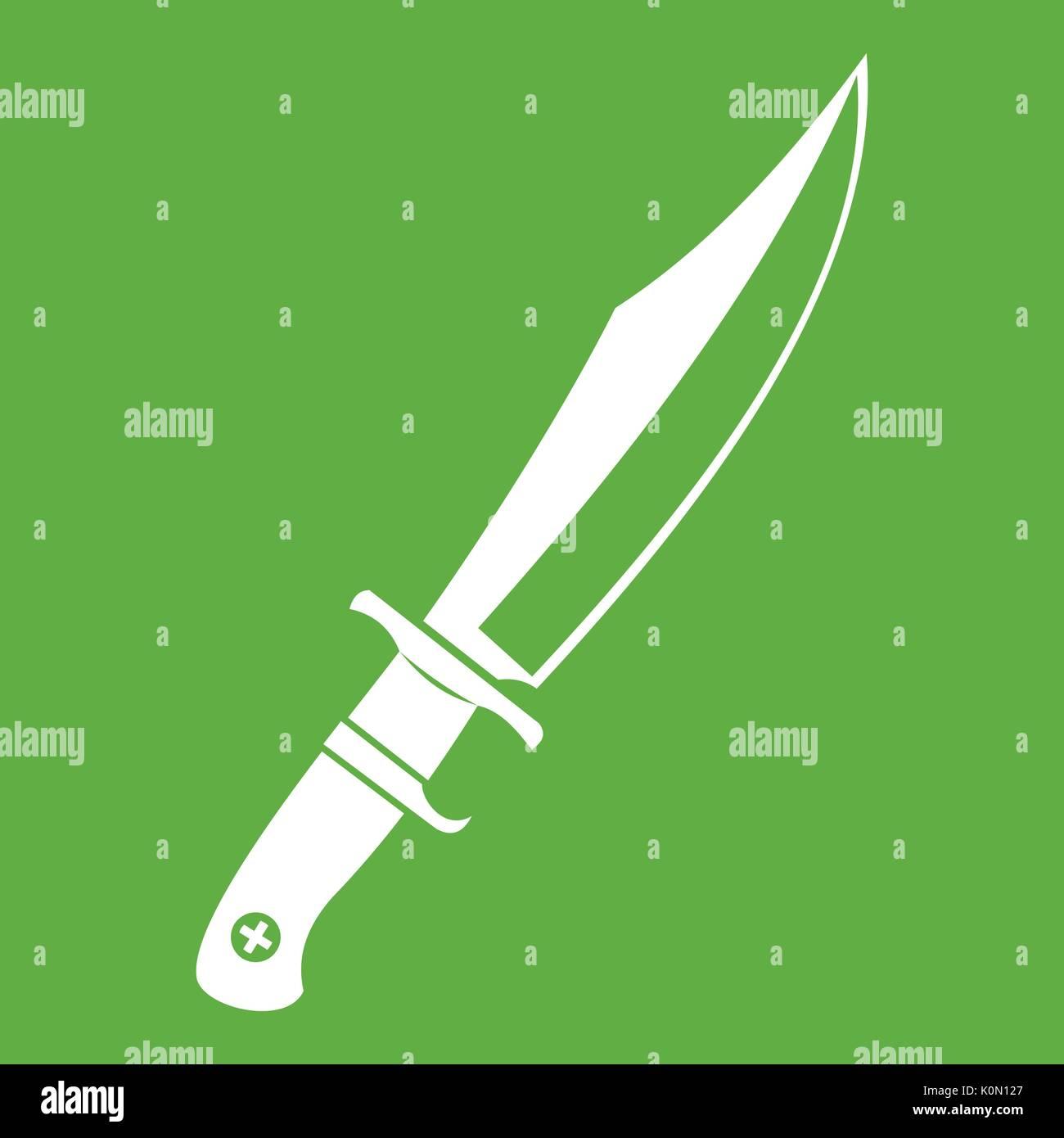 Dagger icon green - Stock Vector