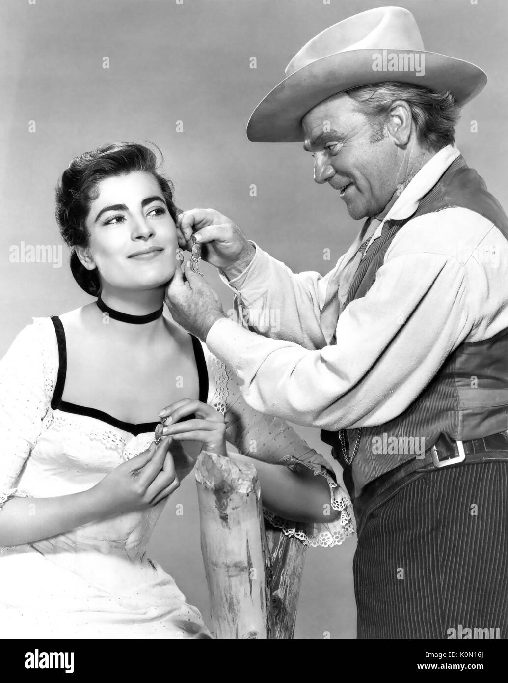 TRIBUTE TO A BAD MAN 1956 MGM film with Irene Papas and James Cagney - Stock Image