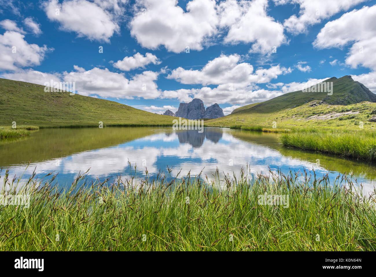 Mondeval, Dolomites, Cortina d'Ampezzo, Veneto, Belluno, Italy - Stock Image