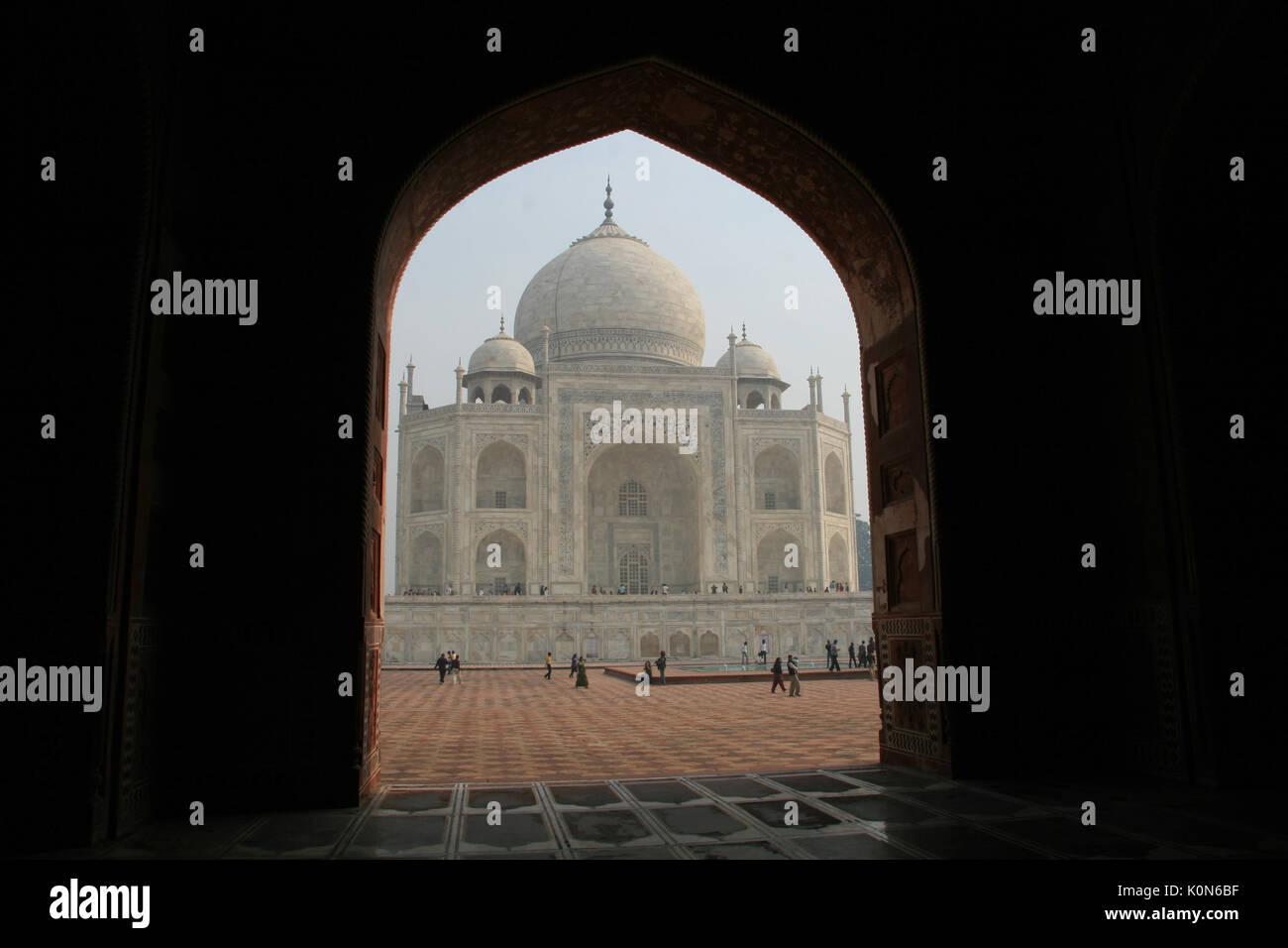 The Taj Mahal in Agra - Stock Image