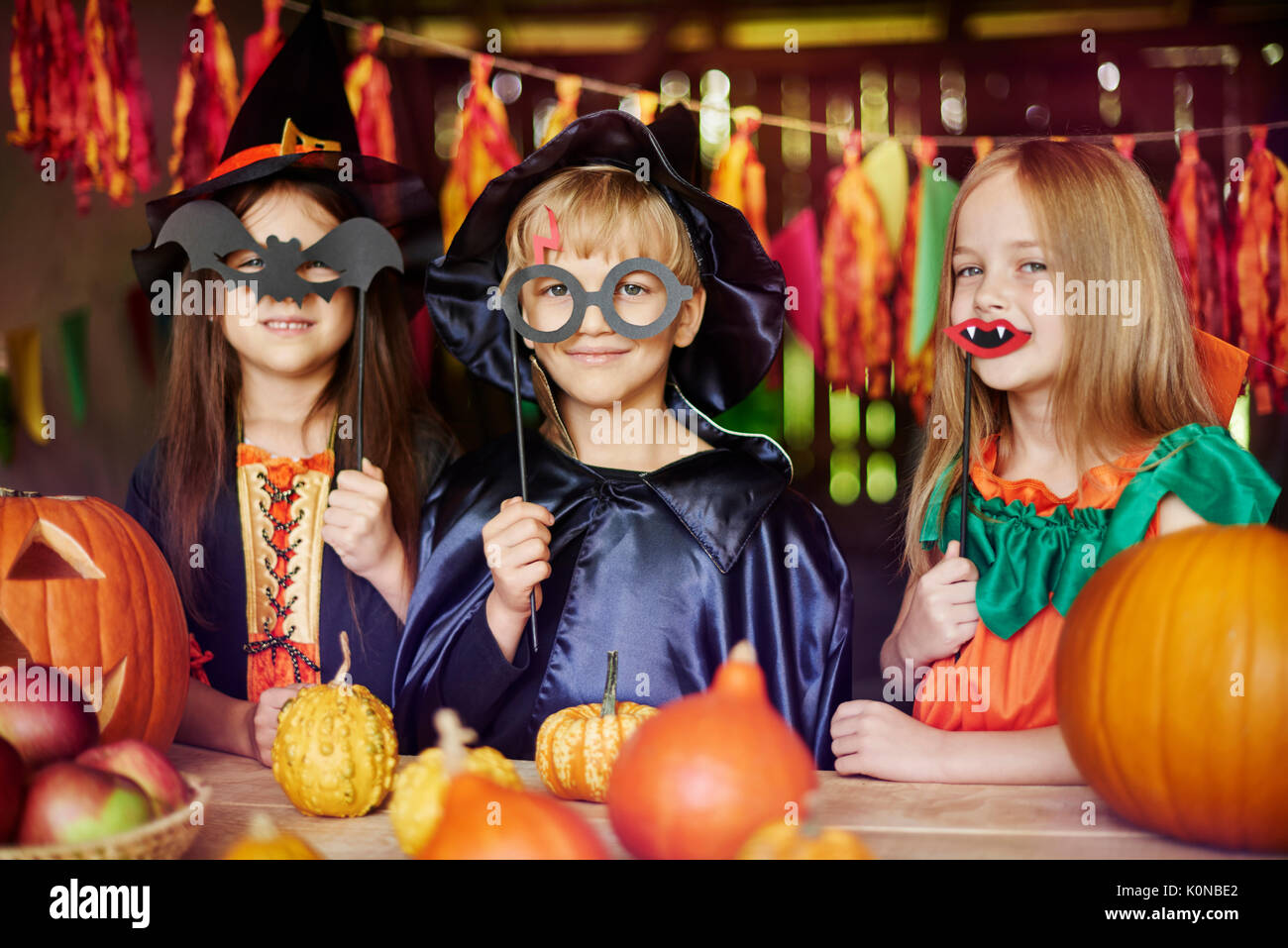 Dressing up is children's favorite game - Stock Image