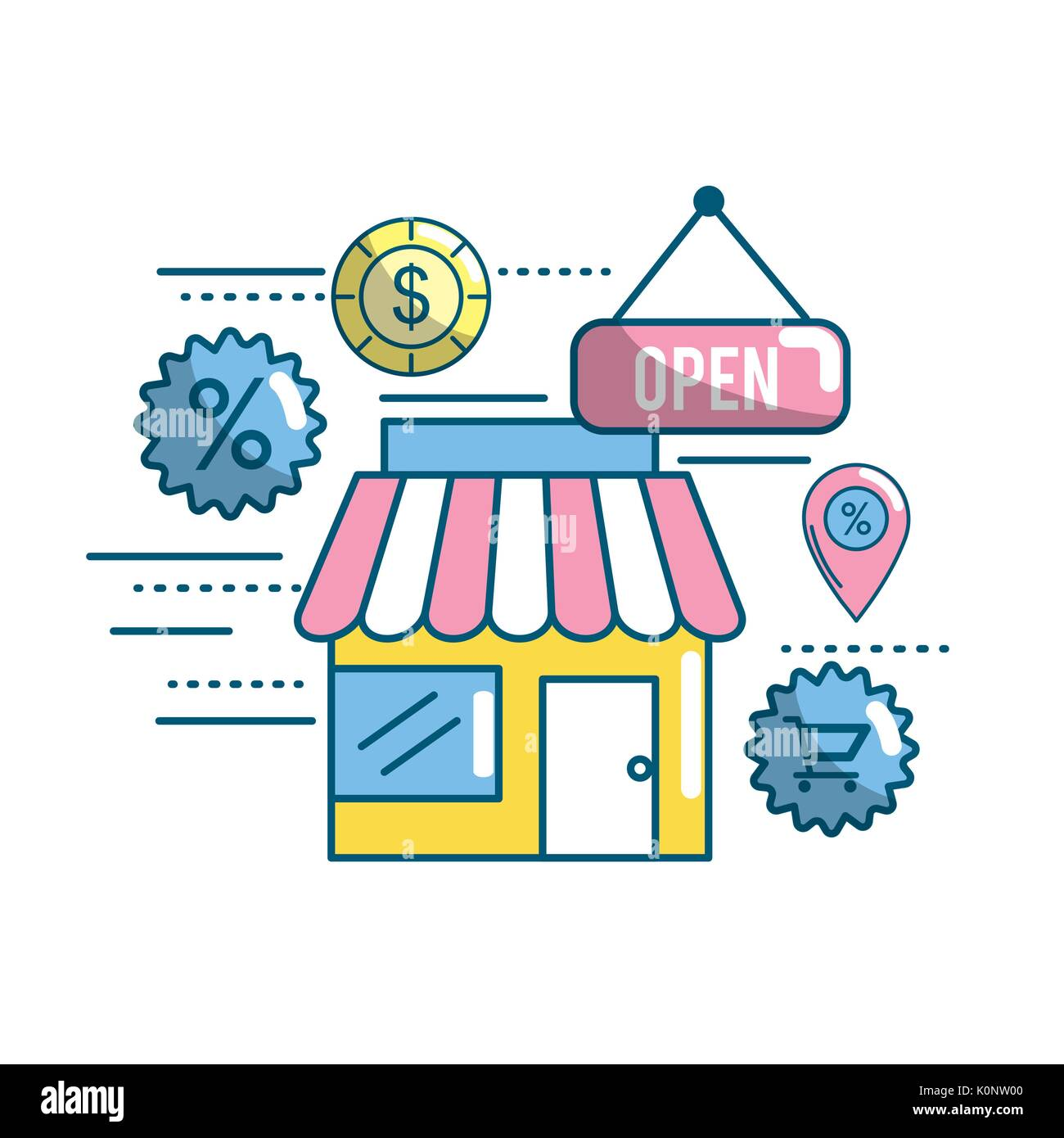 marketing ecommerce and technology business strategy - Stock Image