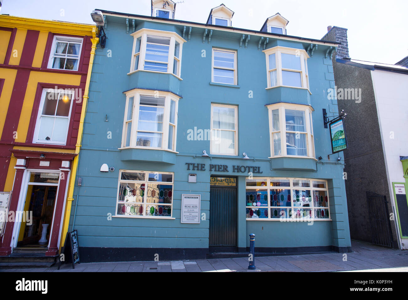 The Pier Hotel in Aberystwyth Ceredigion Wales UK - Stock Image