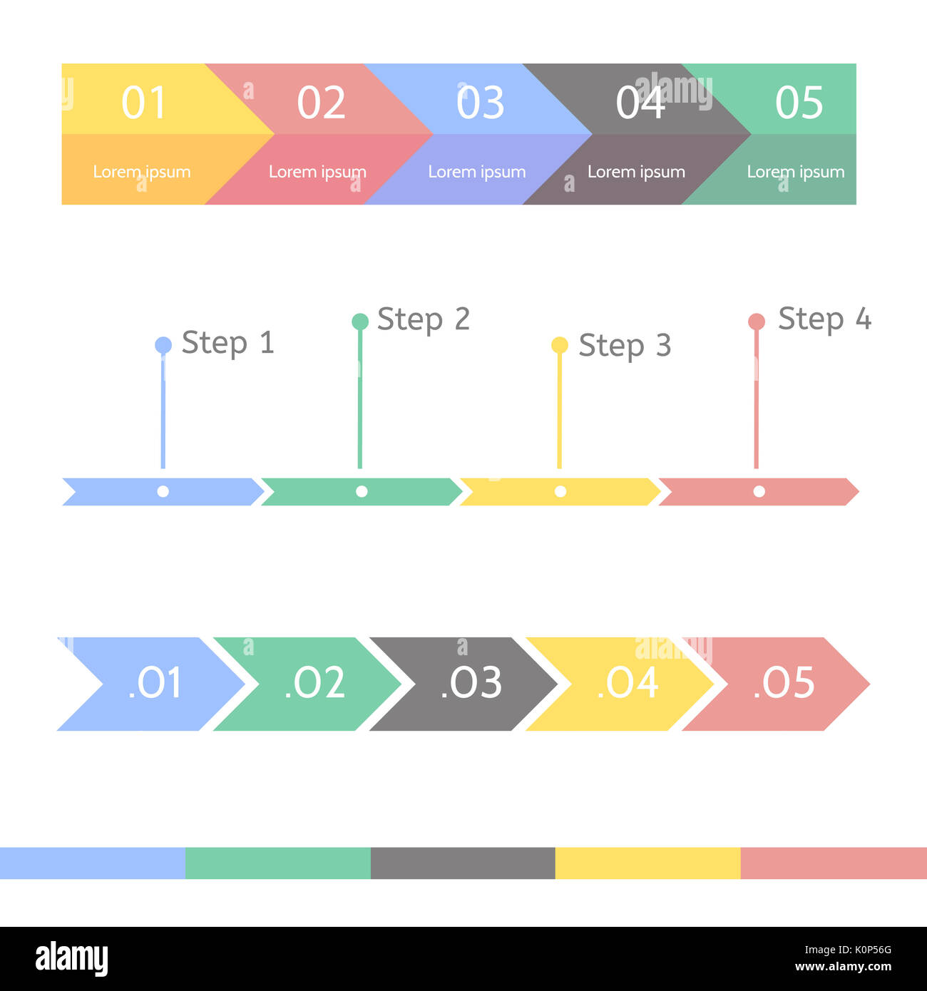 Progress bar statistic concept. Business process step by step. Timeline statistical chart. Infographic template for presentation. - Stock Image