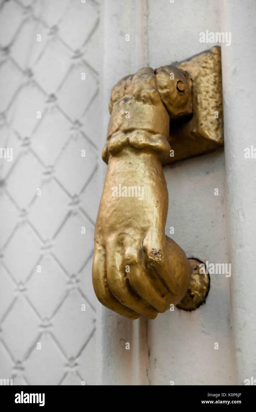 Old door knob close up - Stock Image