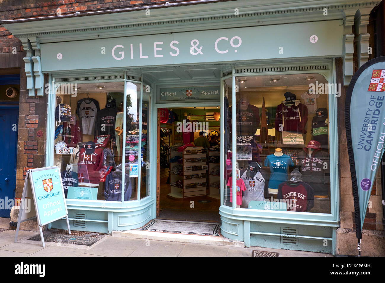 Giles And Co Official Supplier Of University Apparel And Gift Shop, Trinity Street, Cambridge, UK - Stock Image
