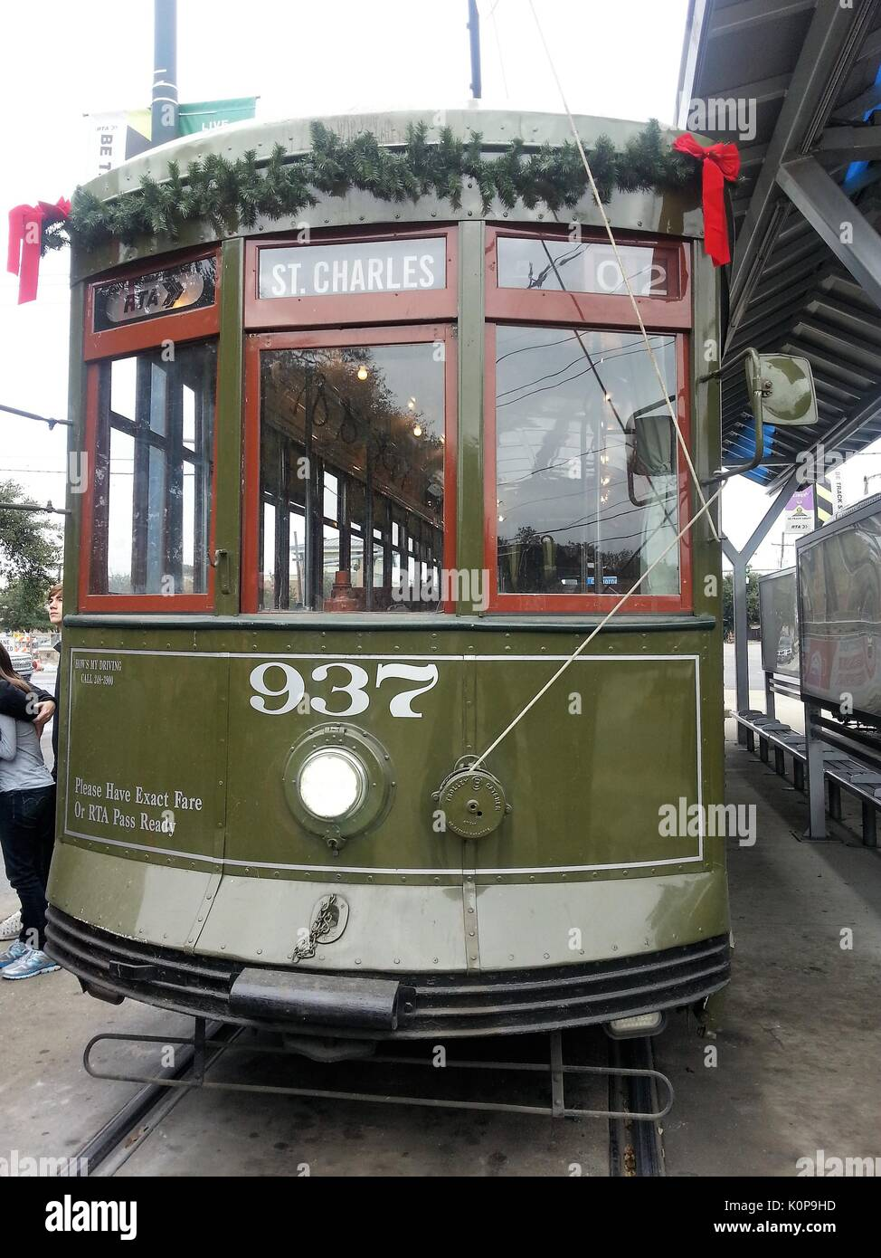 Streetcars in New Orleans, Louisiana - Stock Image