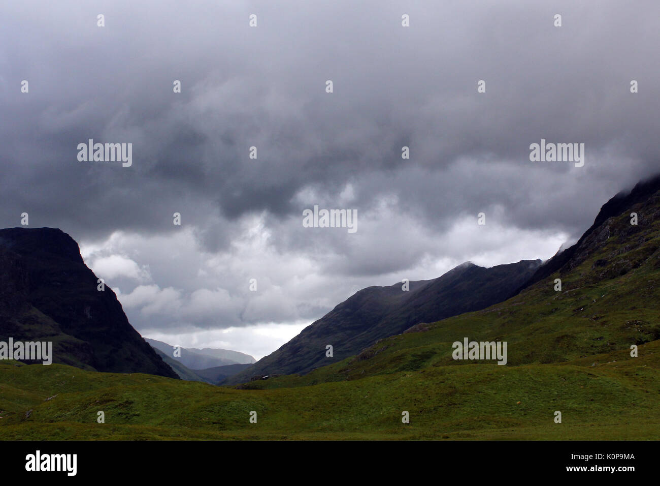 scenery in the scottish highlands - Stock Image