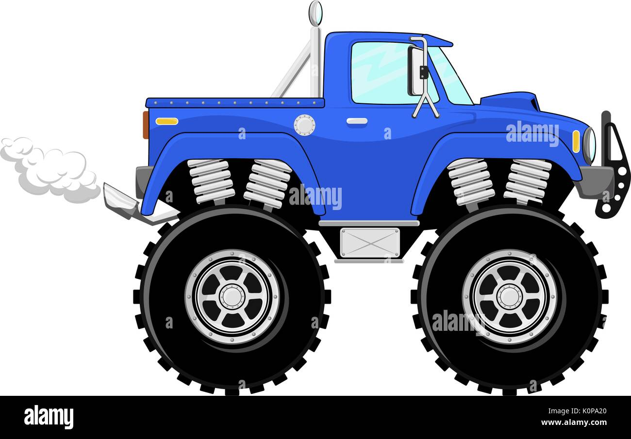 Cartoon Monster Truck High Resolution Stock Photography And Images Alamy