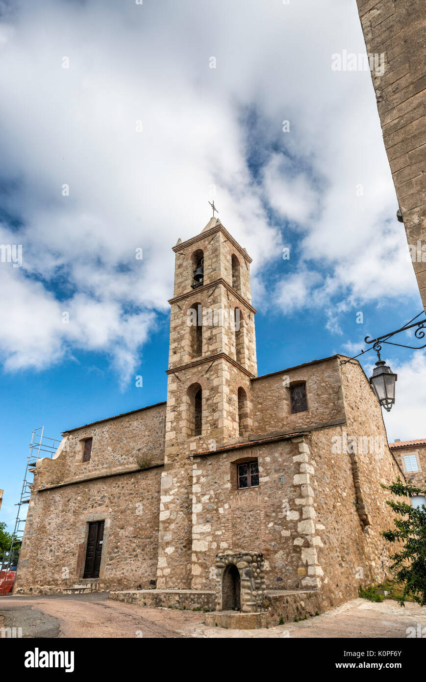 St-Marcel Church near Fort de Matra in Aleria, Corsica, France - Stock Image