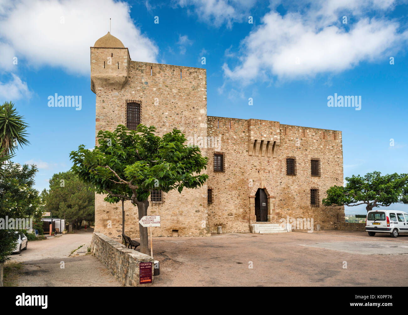Fort de Matra, Genoese fortress, 15th century, seat of Musee Jerome-Carcopino, in Aleria, Haute-Corse, Corsica, France - Stock Image