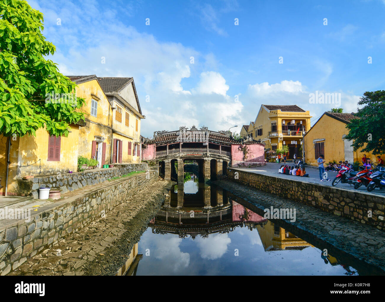 Hoi An, Vietnam - Nov 29, 2015. Japanese Bridge Pagoda (Chua Cau) in Hoi An, Vietnam. Ancient and peaceful, Hoi An is one of the most popular destinat - Stock Image