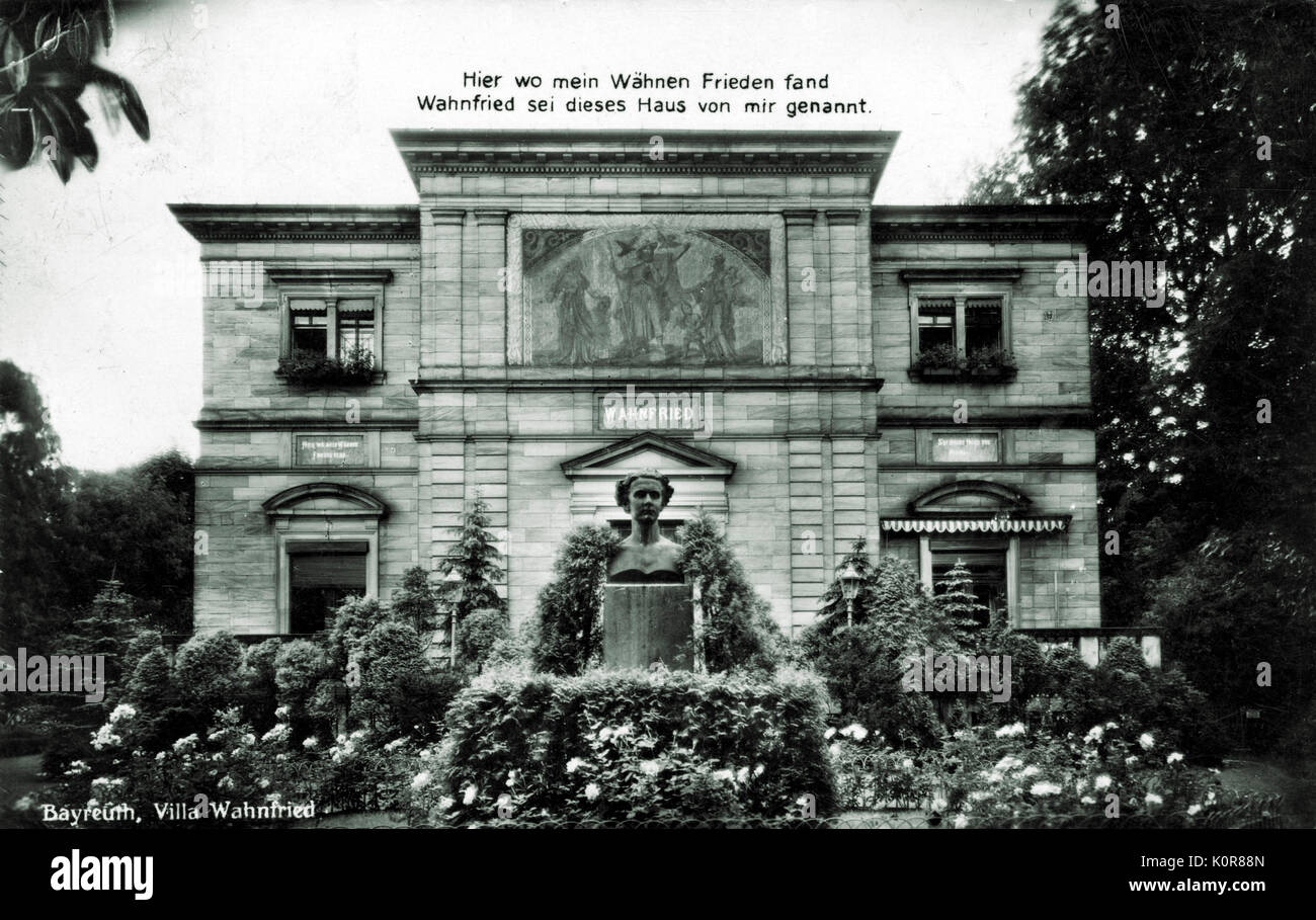 Richard Wagner - the German composer 's Villa Wahnfried in Bayreuth. RW: 22 May 1813 - 13 February 1883. - Stock Image