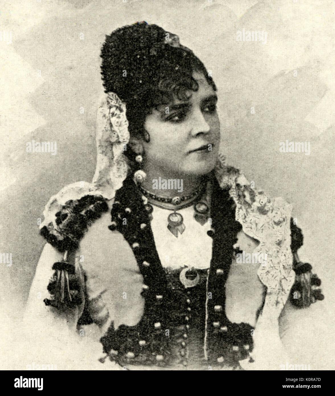 BIZET. 'Carmen'-GALLI-MARIE as first Carmen French composer (1838-1875) Galli-Marie, Celestine - French mezzo (1840-1905) - Stock Image