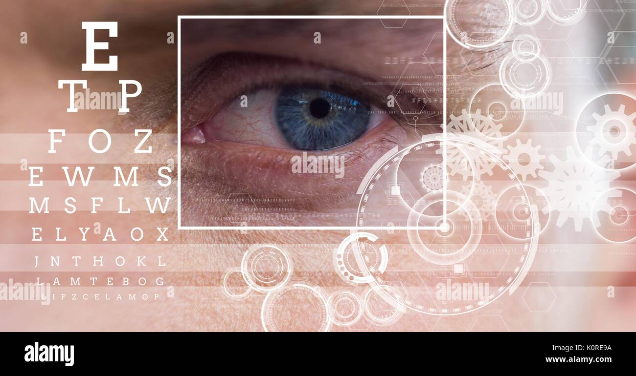 Eye Chart Outline Of Eyeball Stock Photos Eye Chart Outline Of