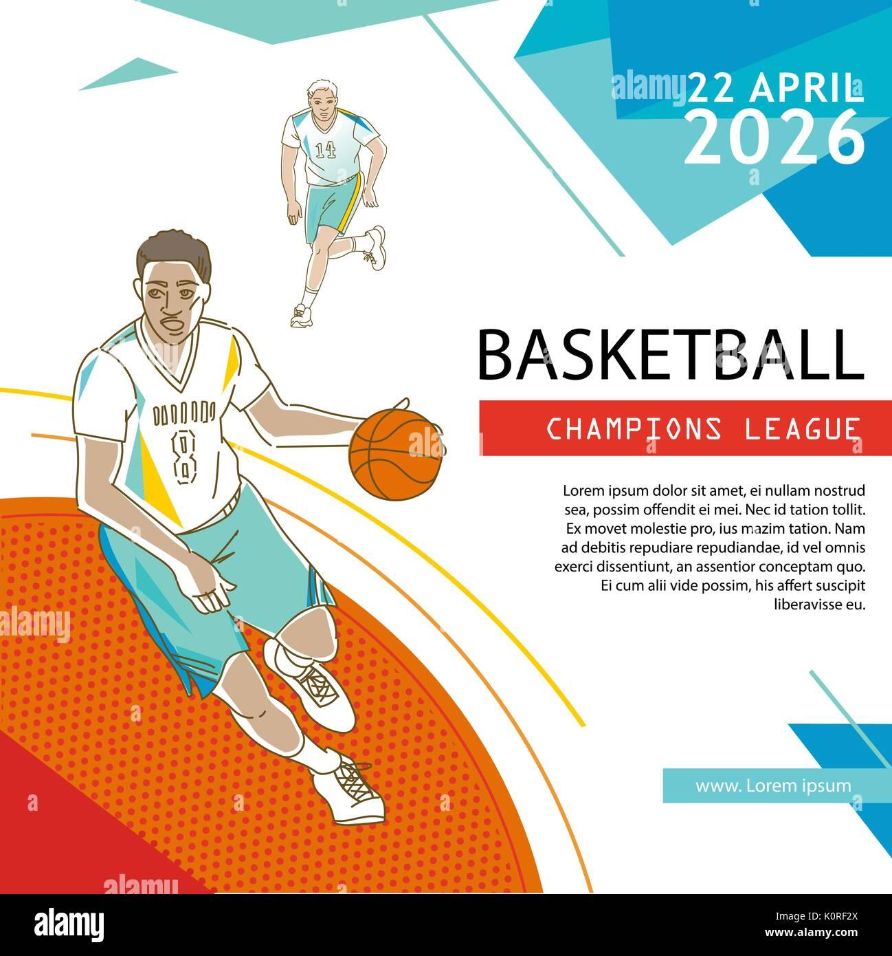 Basketball Flyer & Poster Cover Template Stock Vector Art ...